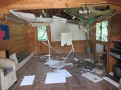 2 The Activty Hut was badly damaged...