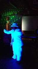 5 Flossie in White Suit under UV (2)