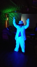 5 Flossie in White Suit under UV