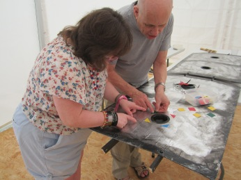 8 Chris and Flossie Adding Colured Decals