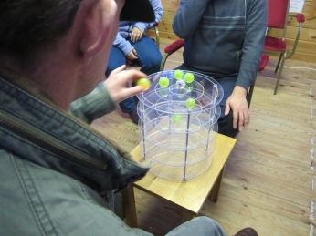 Tim and Colin Playing the Orbits Game 8